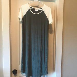 Plain Jane 24 hour dress in olive